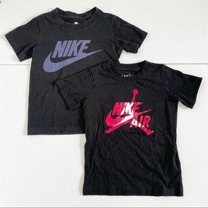 Nike & Jordan Short Sleeve Shirts (2) Black